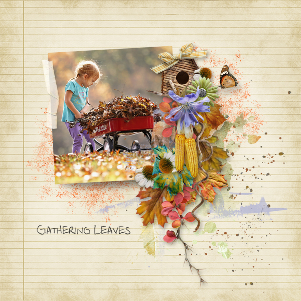 Playful Autumn Layout by Linda