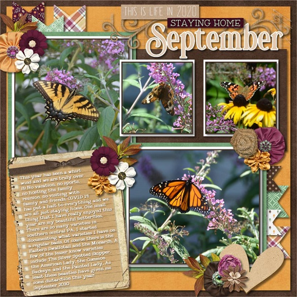 CT Layout using #2020 September by Connie Prince
