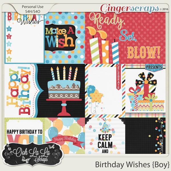 Gingerscraps Pocket Scrapbooking Birthday Wishes Boy Journal