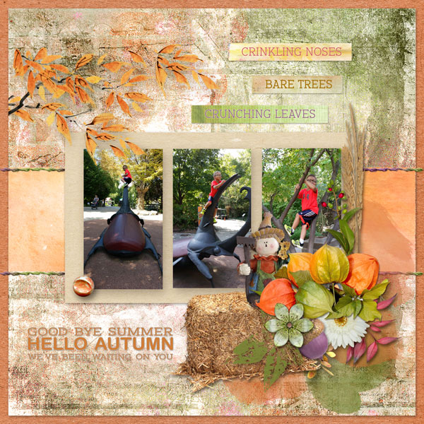 Painted Autumn Layout by Cathy