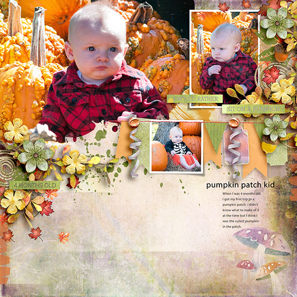 Painted Autumn Layout by Norma