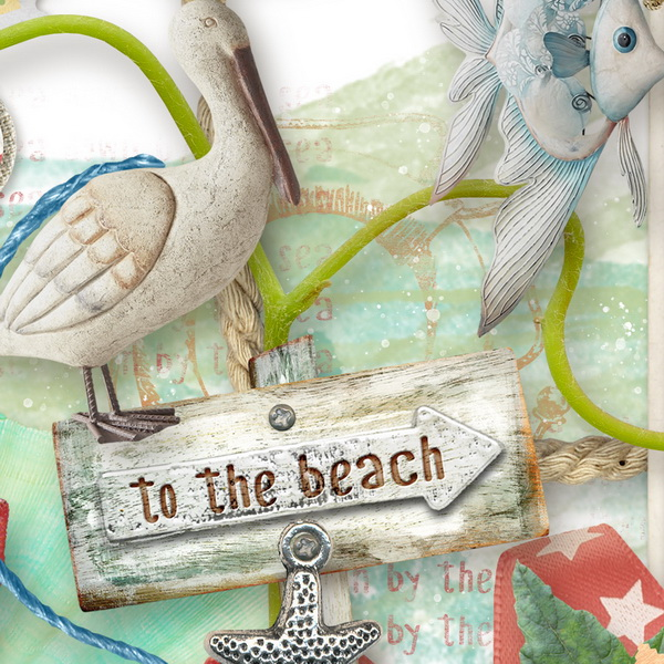 Beach Day by Snickerdoodle Designs, Detail 1