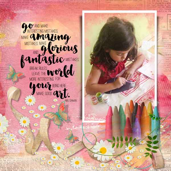 Color Outside the Lines Layout by Lella