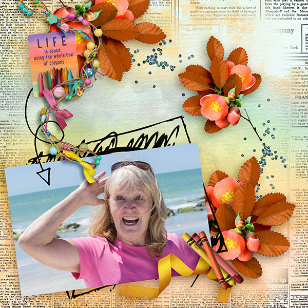 Color Outside the Lines Layout by Norma