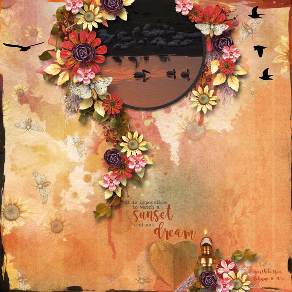 Harvest Sunset Layout by Renee