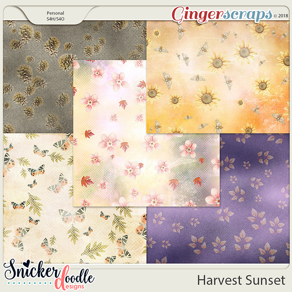 Harvest Sunset Papers