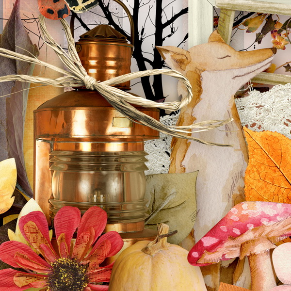 Harvest Sunset Detail 1 by Snickerdoodle Designs