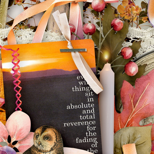 Harvest Sunset Detail 2 by Snickerdoodle Designs