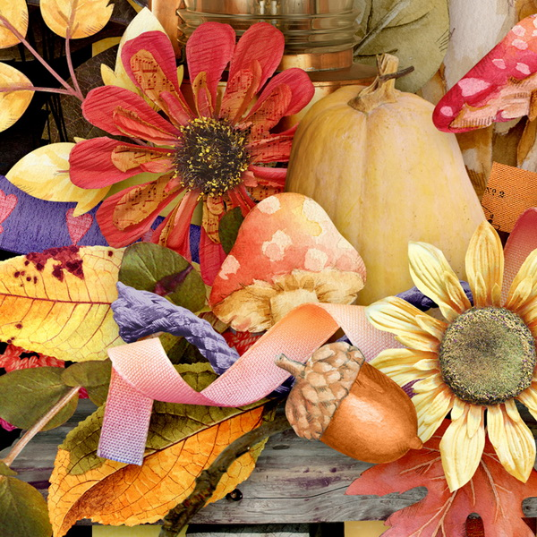 Harvest Sunset Detail 4 by Snickerdoodle Designs