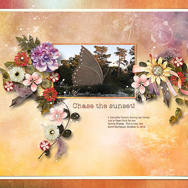 Harvest Sunset Layout by Cathy