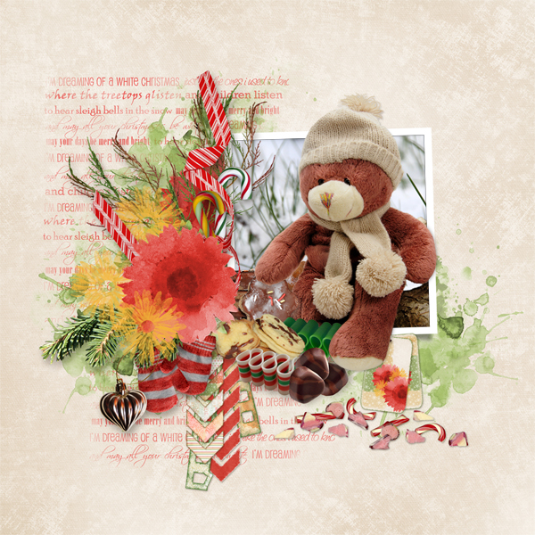 Sweet Christmas Layout, Collection by Snickerdoodle Designs & Linda Cumberland Designs
