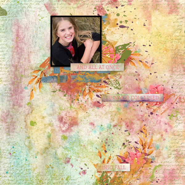 Painted Autumn Layout by Marisa