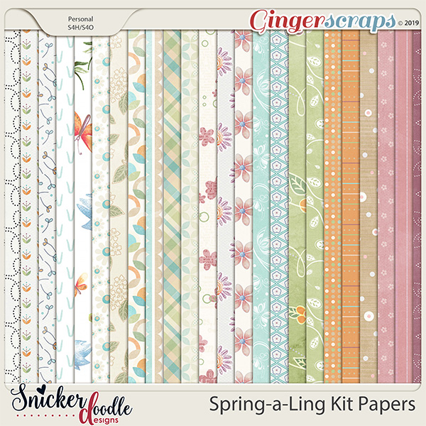 Spring-a-Ling Kit Papers