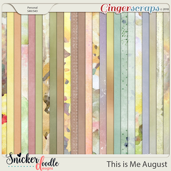 This is Me August Kit Papers by Snickerdoodle Designs