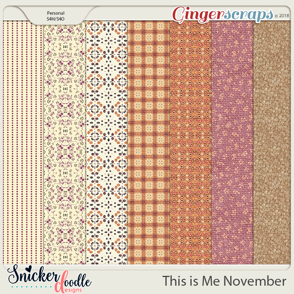 This is Me November Papers by Snickerdoodle Designs