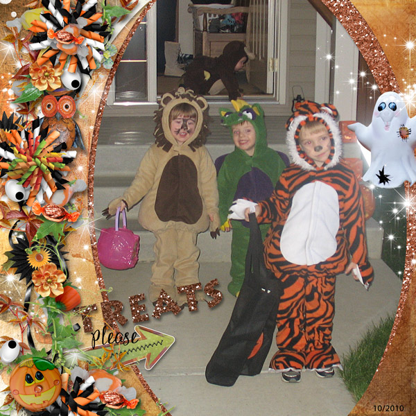 Trick or Treat Layout by Renee
