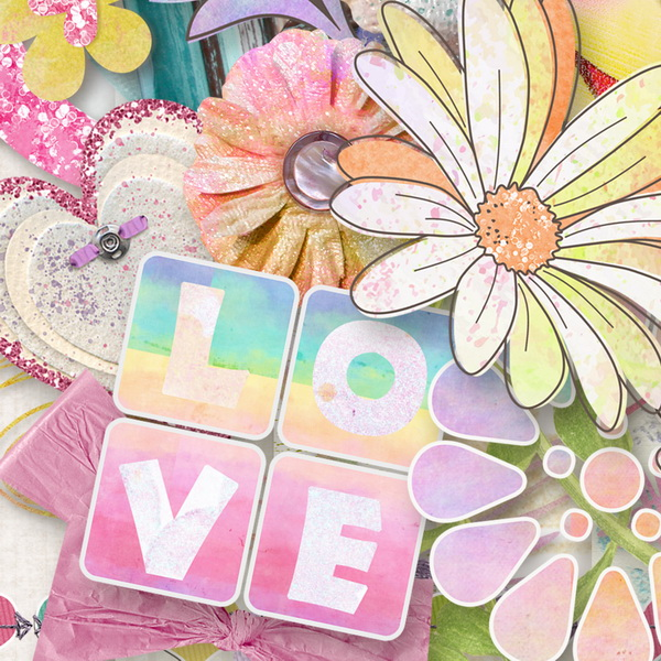 You Color My World Kit Detail by Snickerdoodle Designs