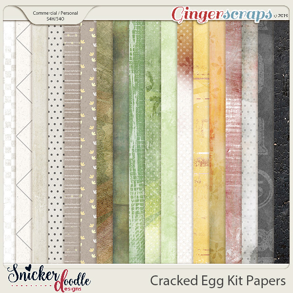 Cracked Egg Kit Papers by Snickerdoodle Designs