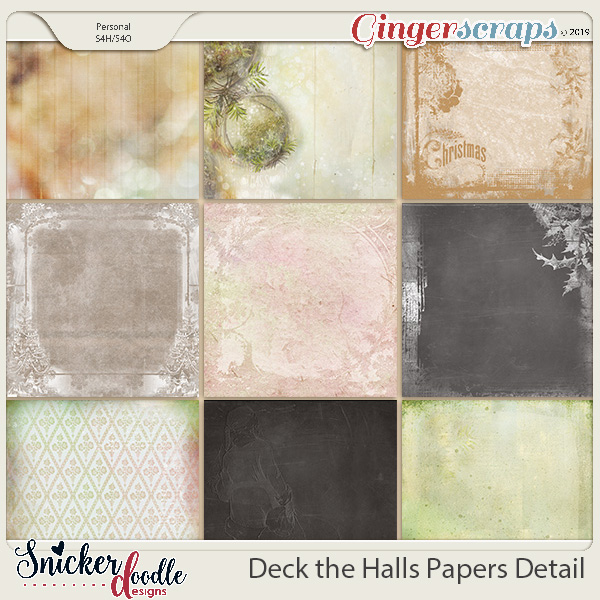 Deck the Halls Kit Papers by Snickerdoodle Designs