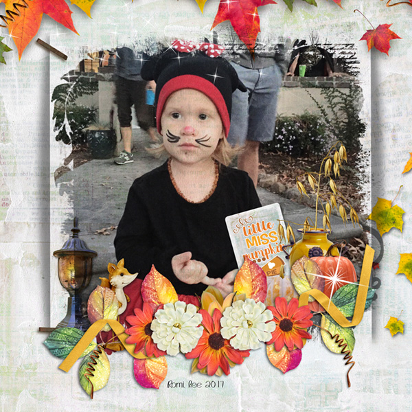 This is Me October Layout by CTM Chrissy