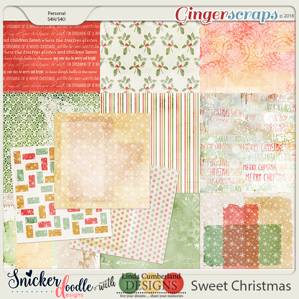 Sweet Christmas Papers, Snickerdoodle Designs & Linda Cumberland Designs