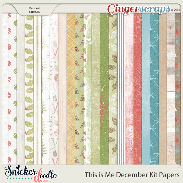 This is Me December Papers by Snickerdoodle Designs