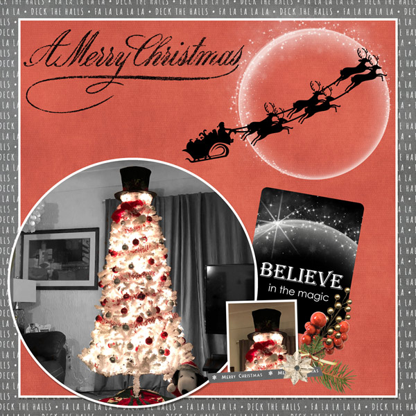 Christmas Memories by Snickerdoodle Designs: Layout by Cathy