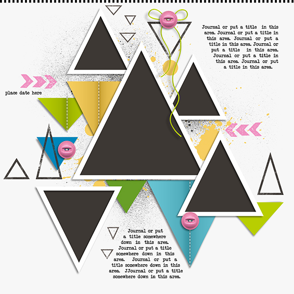 GingerScraps :: Templates :: Geometric Templates No.1 by Clever ...