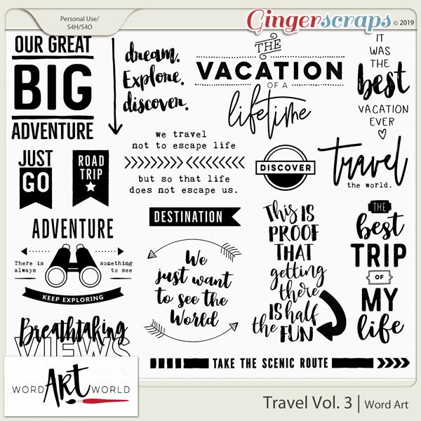 Travel Vol. 3 Word Art