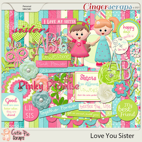 Love You Sister - Page Kit