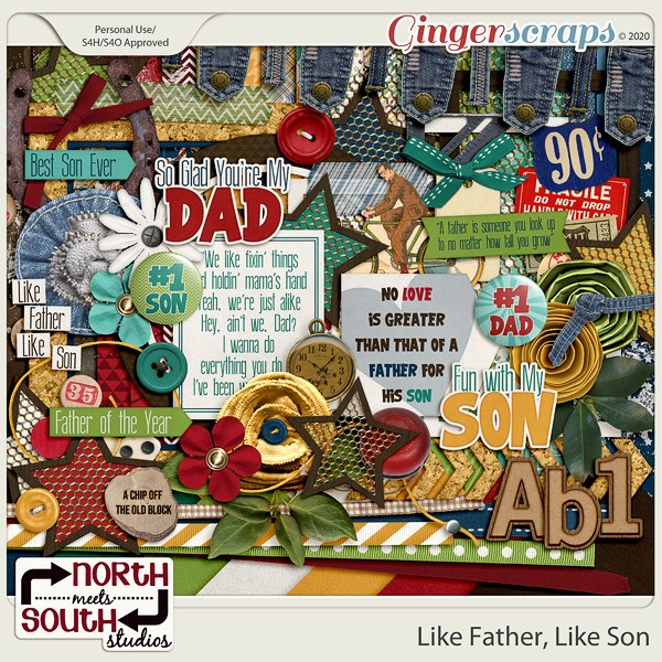 Like Father Like Son Collab Kit by North Meets South Studios