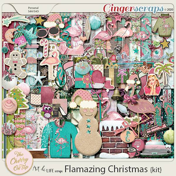 The Cherry On Top: Art & Life Scraps Flamazing Christmas Kit