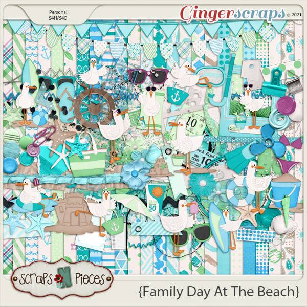 Family Day At The Beach - Scraps N Pieces
