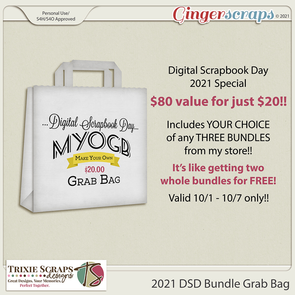 2021 DSD Bundle Grab Bag by Trixie Scraps Designs