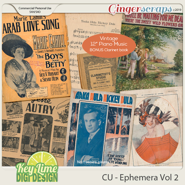 CU Ephemera Volume 2 by Key Lime Digi Design