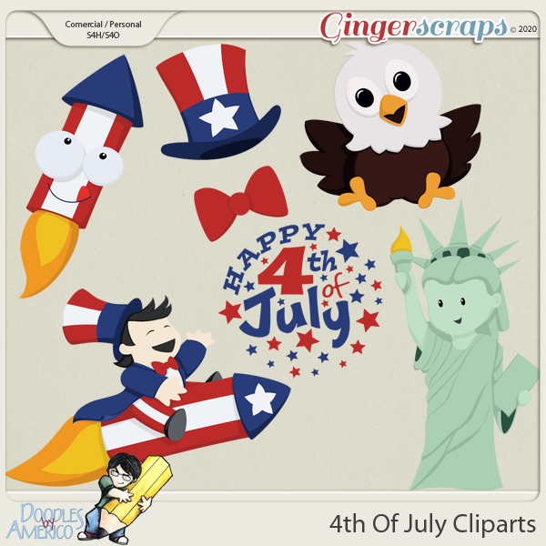 Doodles By Americo: 4th Of July Cliparts
