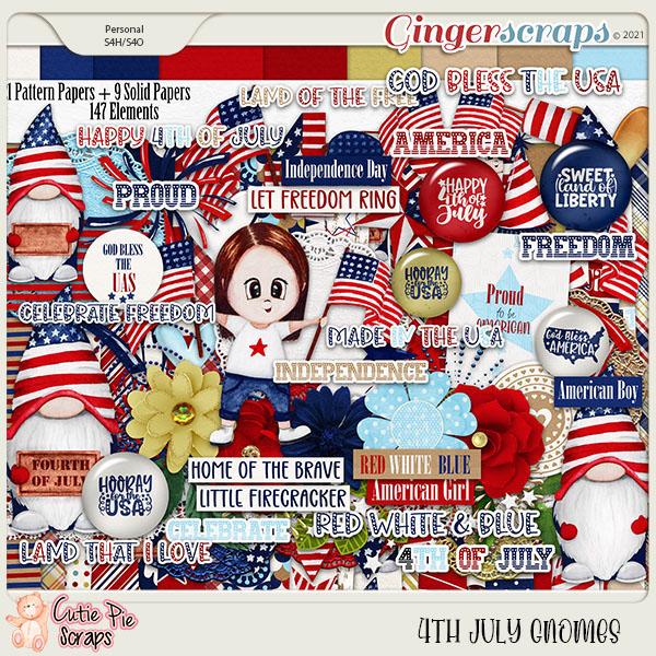 4Th July Gnomes Page Kit