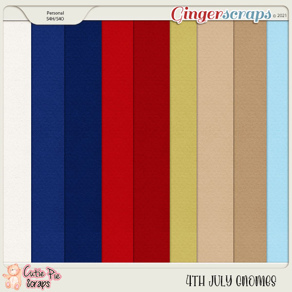 4Th July Gnomes Solid Papers