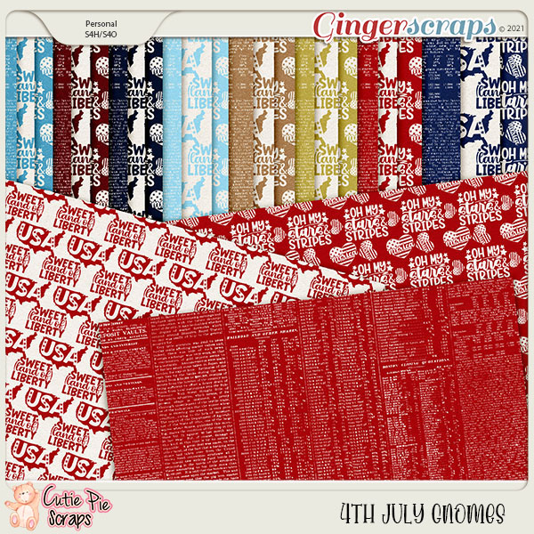 4Th July Gnomes Pattern Papers