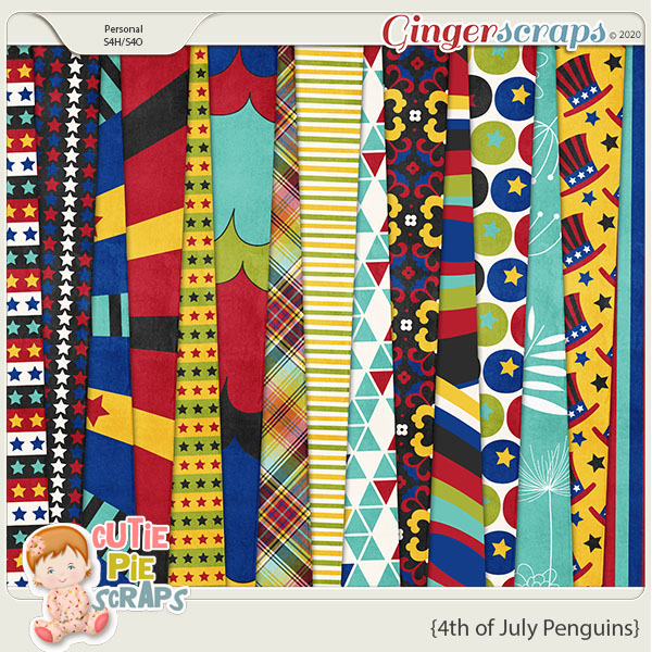 4th of July Penguins-Papers