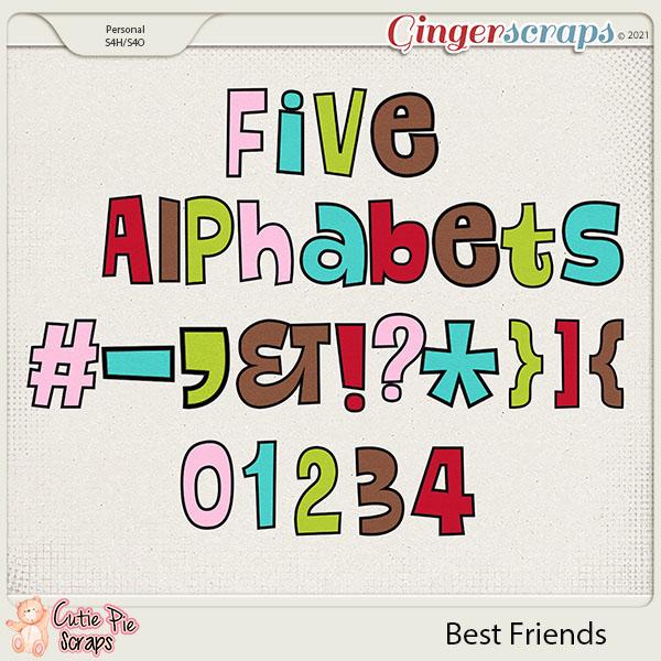 Best Friends Alphabets