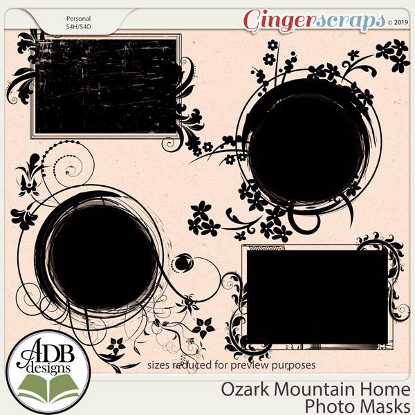 Ozark Mountain Home Masks by ADB Designs