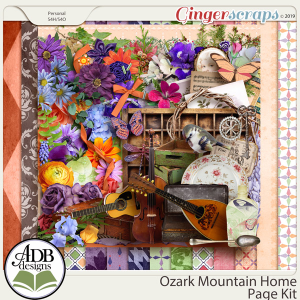 Ozark Mountain Home Page Kit by ADB Designs