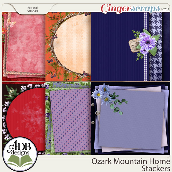 Ozark Mountain Home Stacked Papers by ADB Designs