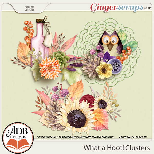 What A Hoot Clusters by ADB Designs