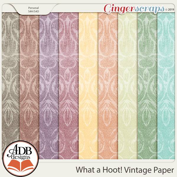 What A Hoot Vintage Papers by ADB Designs