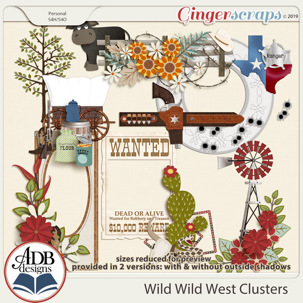 Wild Wild West Clusters by ADB Designs