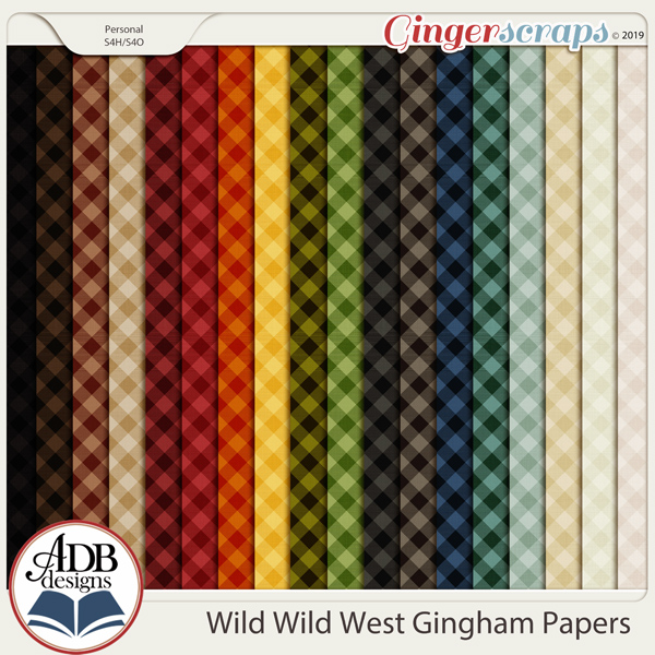 Wild Wild West Gingham Papers by ADB Designs
