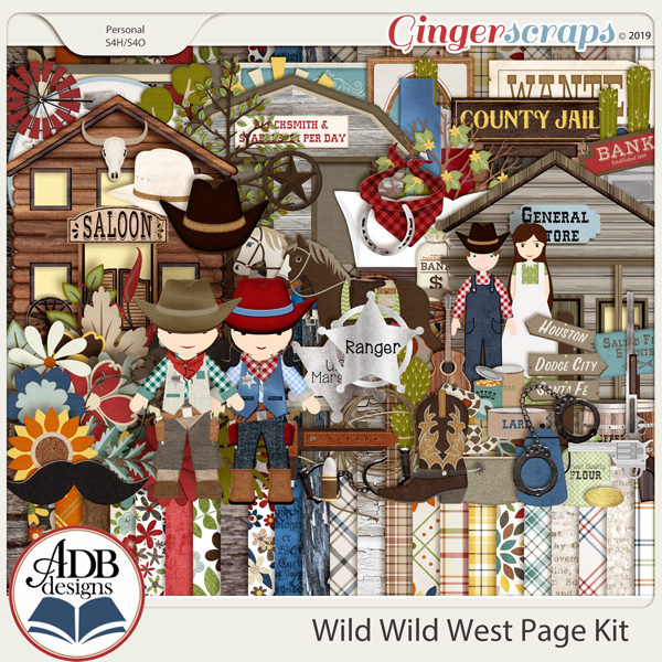 Wild Wild West Page Kit by ADB Designs