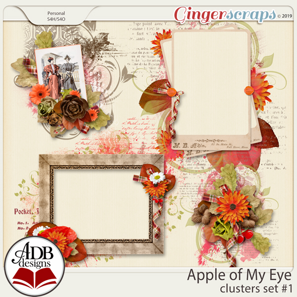 Apple of My Eye Clusters Set #01 by ADB Designs